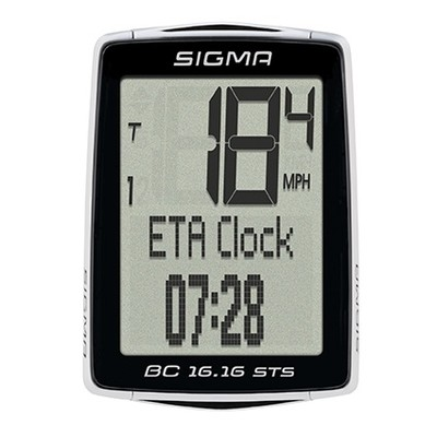Велокомпьютер беспроводной Sigma BC 1616 STS 38943