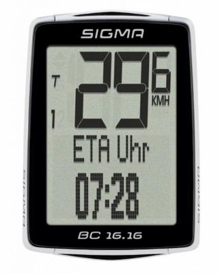 Велокомпьютер Sigma BC 1616 STS +CAD беспроводной 38944